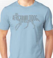 Word Cloud Wildlife: Pictus (African Wild Dog) T-Shirt