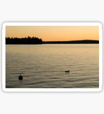 Lake at Sunset Sticker