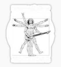 "Da Vinci ""Kirk Hammett"" Vitruvian Man Sticker"