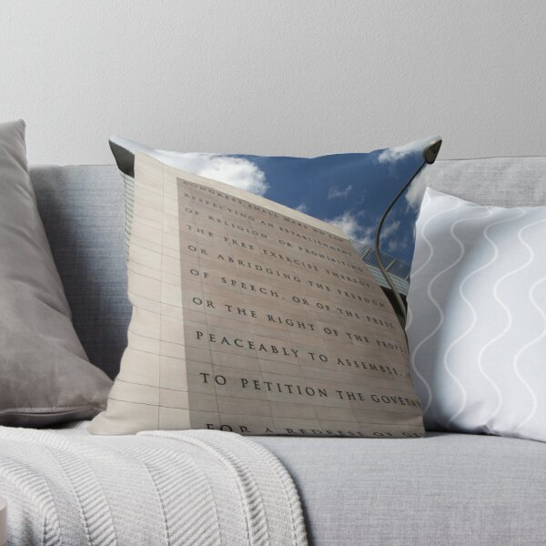 The Newseum Throw Pillow