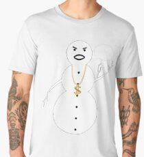 Snowman Bling Chain Ho Ho Ho Men's Premium T-Shirt