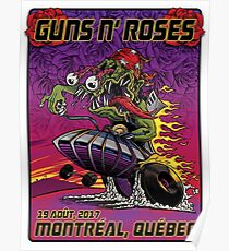 POSTER Guns N' Roses, August 19, 2017 Montreal, Quebec Poster