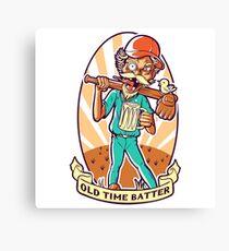 Drunkard Baseball PLAYER - Cinnabar RED Canvas Print
