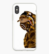 Draped In Bape (White) iPhone Case