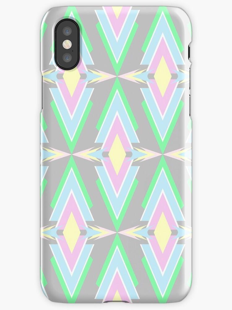 Scandinavian Aztec Pattern Pastel Color by MyArt23