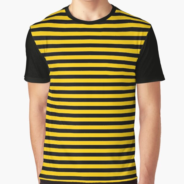 Black and Yellow Bee | Stripes | Halloween Outfit Graphic T-Shirt