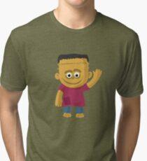 Happy Halloween Frankenstein Tri-blend T-Shirt