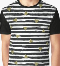 Watercolor stripes pattern. Grunge background Graphic T-Shirt