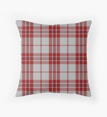 Red and White Mc Gregor Clan Scottish Tartan #home #lifestyle Throw Pillow