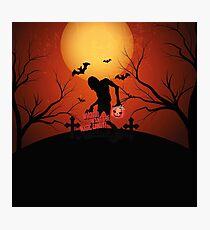 Happy Halloween Zombi Photographic Print