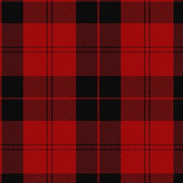 Red and Black Scottish Tartan | Hipster Lumberjack look by koovox