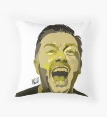 Ricky Gervais Illustration  Throw Pillow