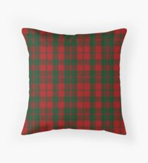 Red and Green | Scottish Clan Tartan #home #lifestyle Throw Pillow