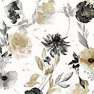 Shelby Black and Gold Flowers by mindydidit