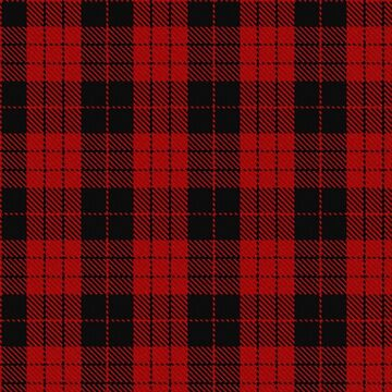 Red and Black | Clan | Scottish Tartan  by koovox