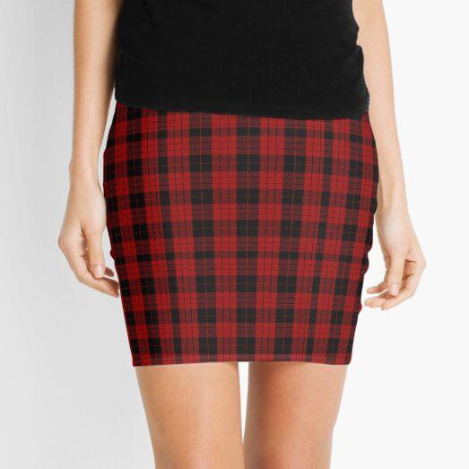 Red and Black | Clan | Scottish Tartan  Flannel Plaid  Mini Skirt