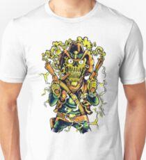 Western Cowboy Skull - Golden Fizz T-Shirt