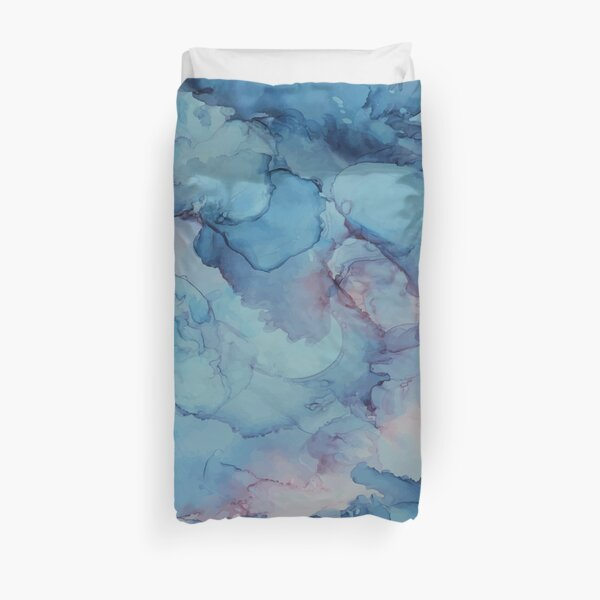 Crashing - Alcohol Ink Painting Duvet Cover