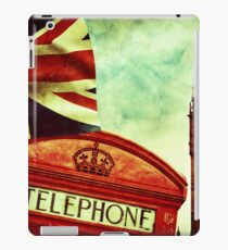 Vintage Retro Big Ben Clock and Red Box in London iPad Case/Skin