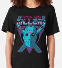 Crystal Lake Killers (NES Variant) Slim Fit T-Shirt