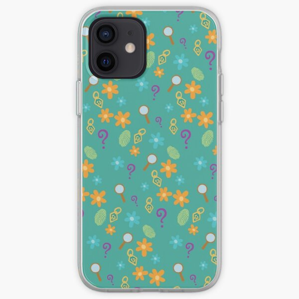 Mystery Inc Pattern (Teal) iPhone Soft Case