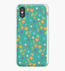 Mystery Inc Pattern (Teal) iPhone Case/Skin