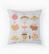 Pan Dulces Squad Throw Pillow