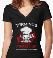 Love The Walking Dead? Women's Fitted V-Neck T-Shirt