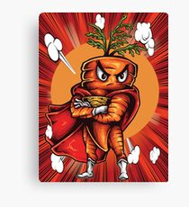 The Angry Carrot / Foodietoon / Red Canvas Print