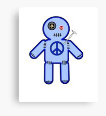 Peace Voodoo Doll Canvas Print