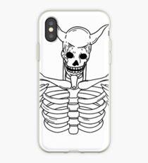 SUSANOO SKELETON (PLAIN, WHITE) iPhone Case