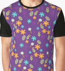 Mystery Inc Pattern (Purple) Graphic T-Shirt