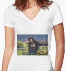 Emily Byrne Women's Fitted V-Neck T-Shirt