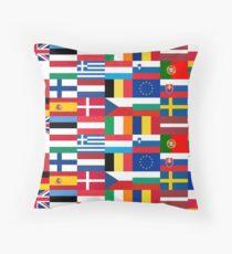 Europe Flags | European Union | Globetrotter Throw Pillow