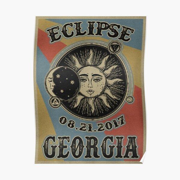 VINTAGE GEORGIA SOLAR ECLIPSE 2017 SHIRT - POSTERS Poster