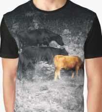Grazing together selective color Graphic T-Shirt