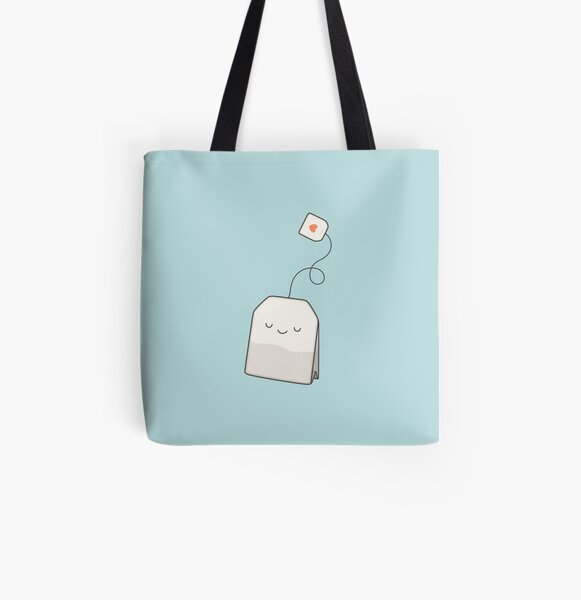 Teezeit Allover-Print Tote Bag