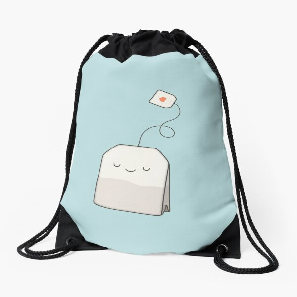 Tea time Drawstring Bag