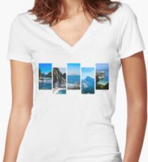 NorCal Blues Women's Fitted V-Neck T-Shirt