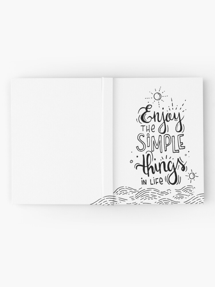 Alternate view of Enjoy the simple things in life  Hardcover Journal