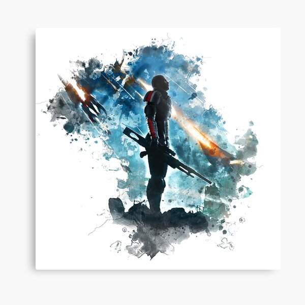 Mass Effect Metal Print