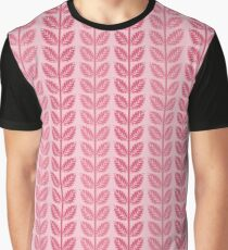 Pink shades of leaves Graphic T-Shirt