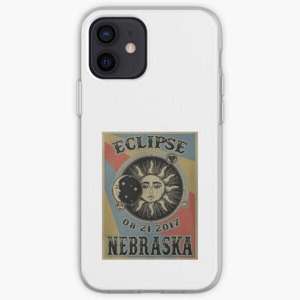 VINTAGE NEBRASKA SOLAR ECLIPSE 2017 POSTER - SHIRT iPhone Soft Case