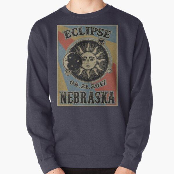 VINTAGE NEBRASKA SOLAR ECLIPSE 2017 POSTER - SHIRT Pullover Sweatshirt