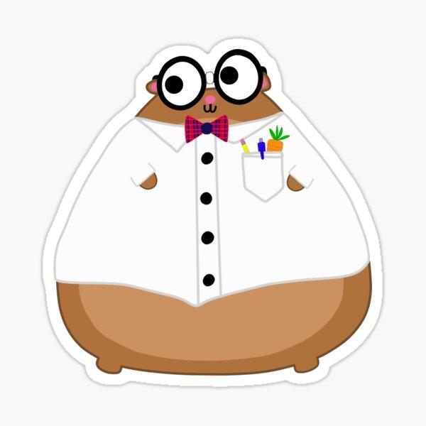 Harold The Fat Hamster: Talk Nerdy To Me Sticker