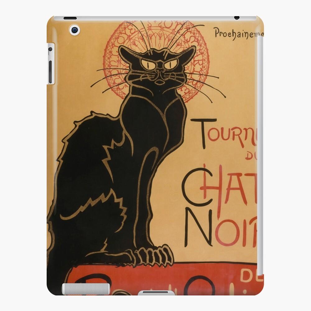 Le Chat Noir The Black Cat Poster by Théophile Steinlen iPad Case & Skin