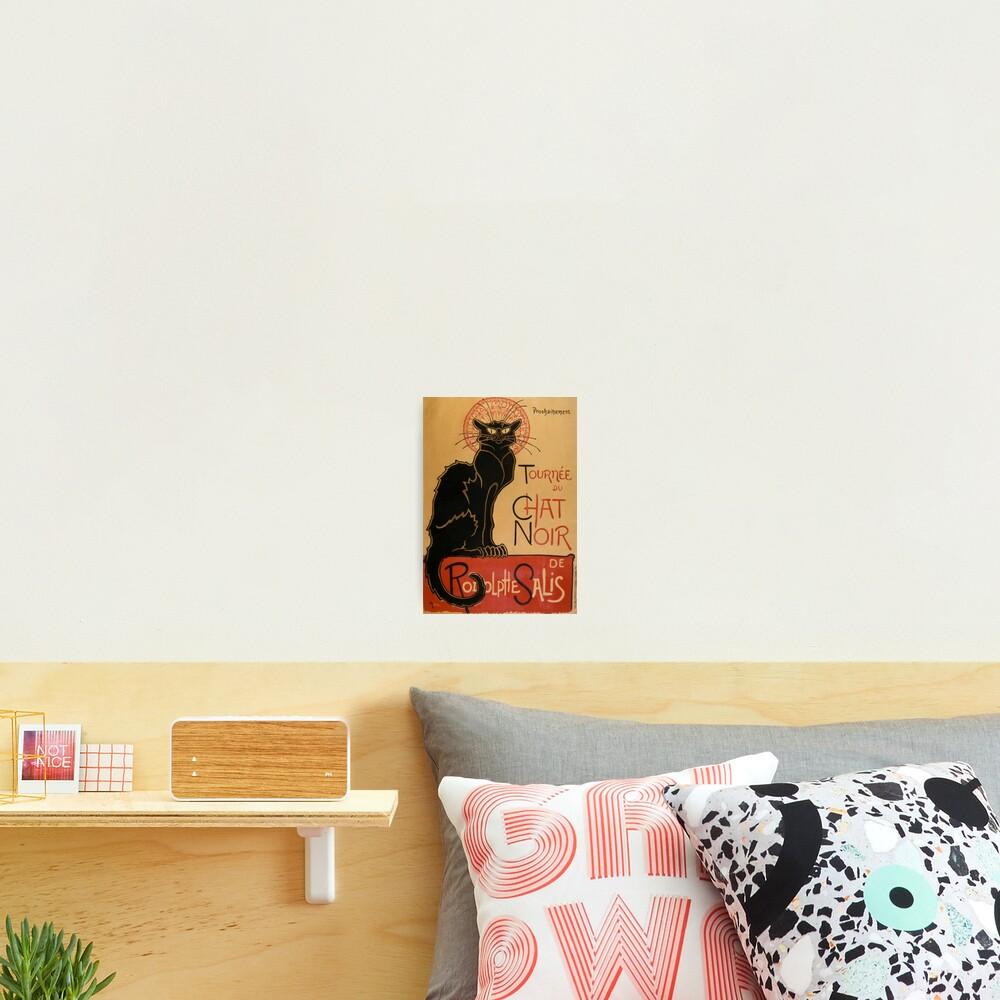 Le Chat Noir The Black Cat Poster by Théophile Steinlen Photographic Print