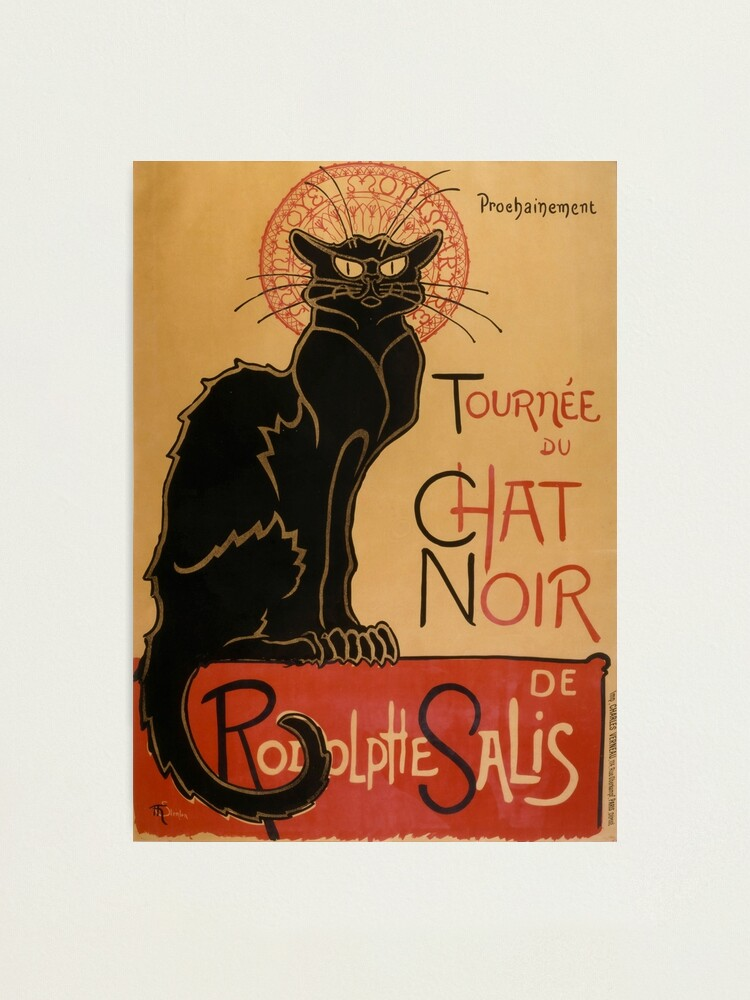 Alternate view of Le Chat Noir The Black Cat Poster by Théophile Steinlen Photographic Print