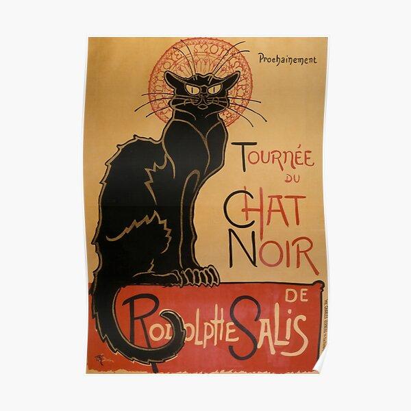 Le Chat Noir The Black Cat Poster by Théophile Steinlen Poster