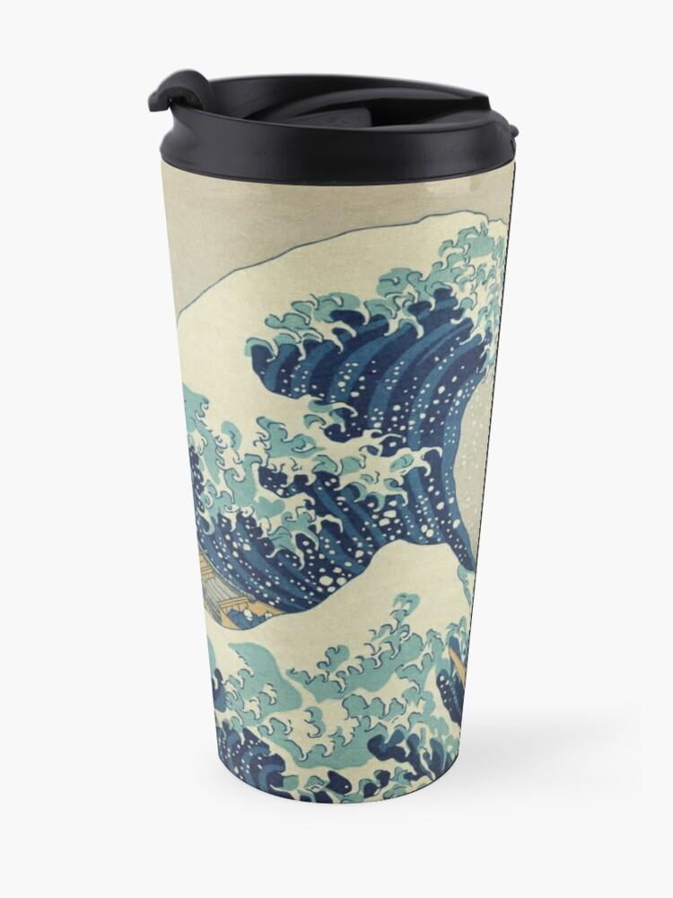 Alternate view of The Classic Japanese Great Wave off Kanagawa by Hokusai Travel Mug
